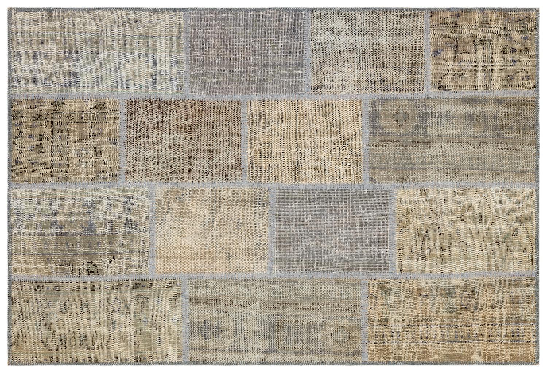 patchwork vloerkleed grijs 35566