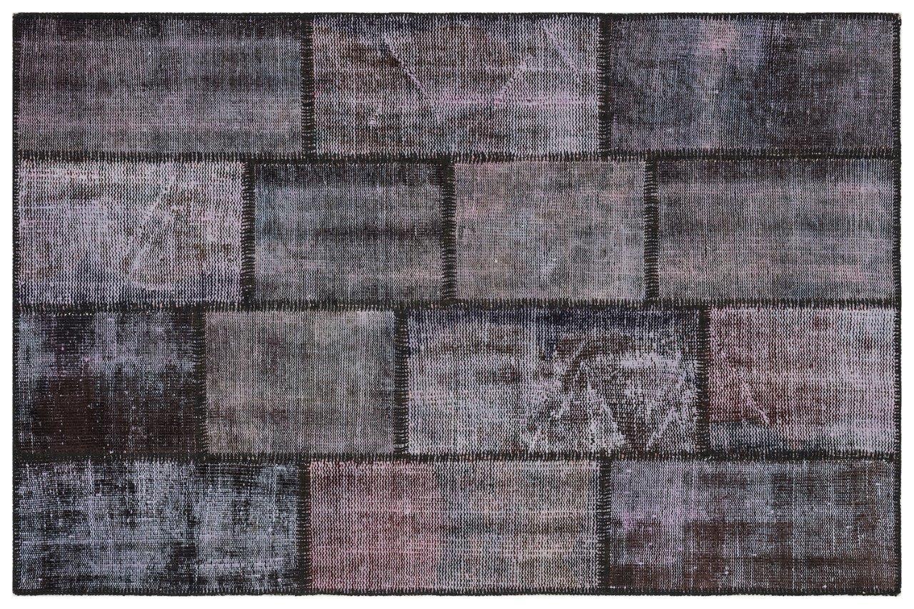 patchwork vloerkleed blauw nr.11486 300cm x 200cm