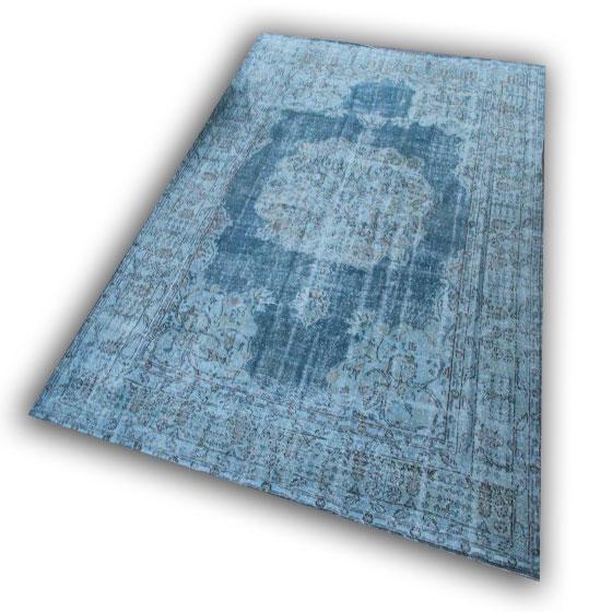 Grijs blauw vloerkleed 370 (330cm x 257cm)