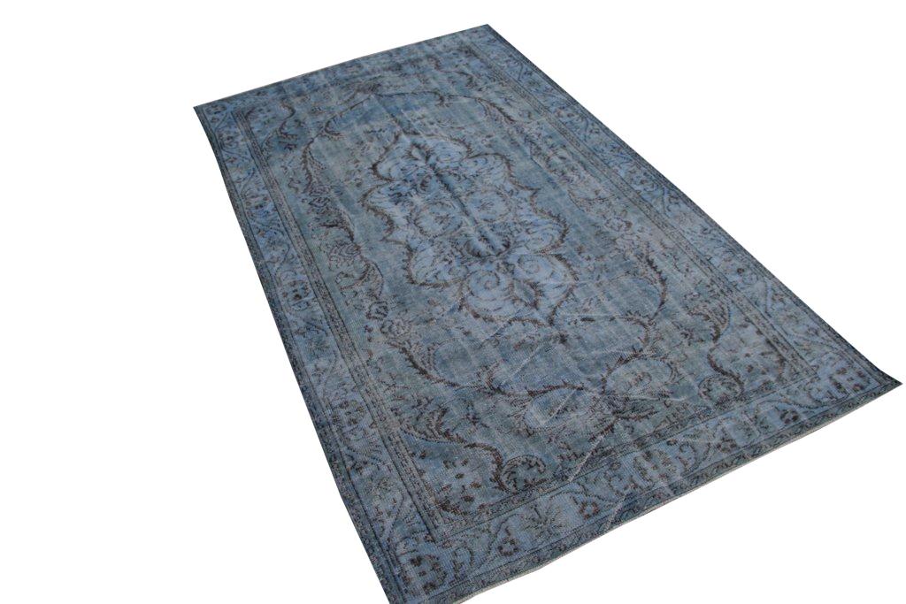 Grijs blauw vloerkleed nr 4001 (300cm x 175cm)