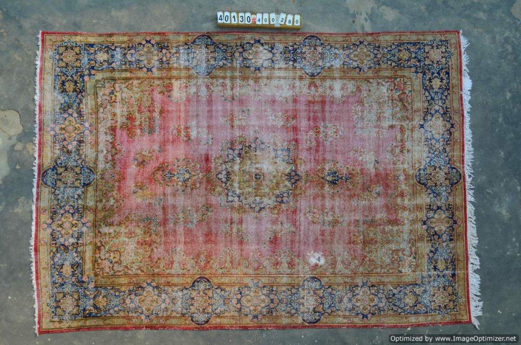 Vintage recoloured perzisch tapijt 40130 (400cm x 280cm)