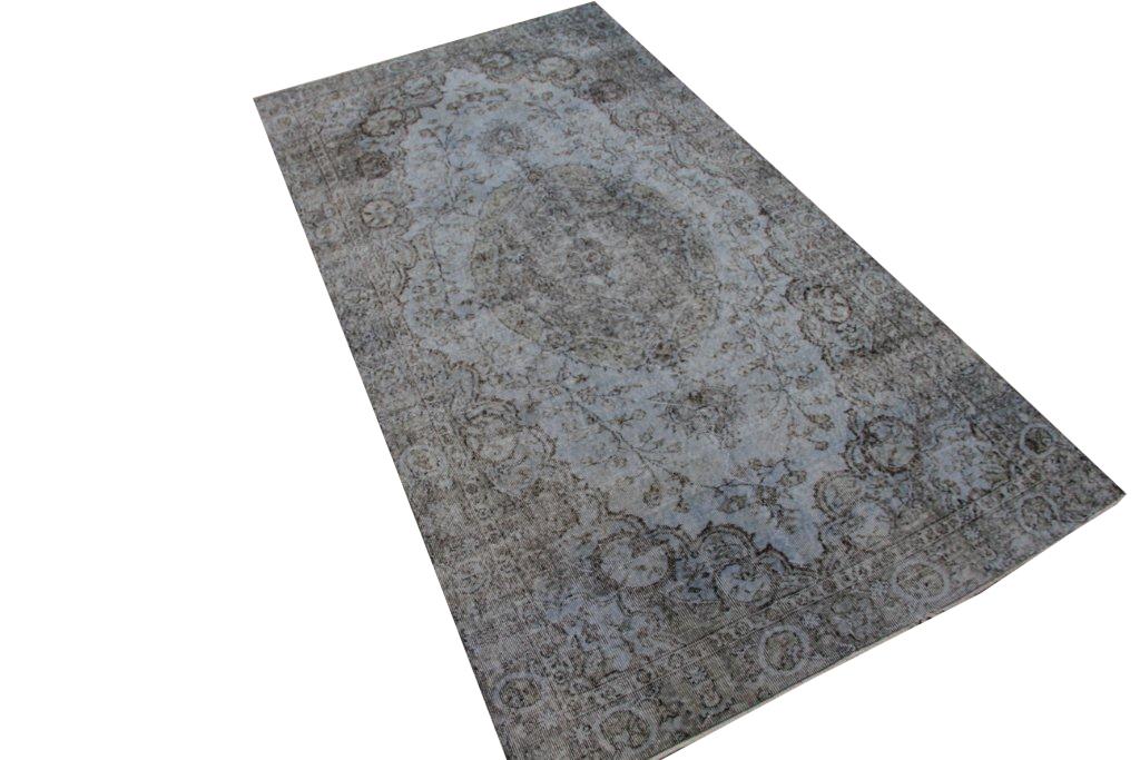 Grijs blauw vloerkleed nr 4030 (288cm x 150cm)