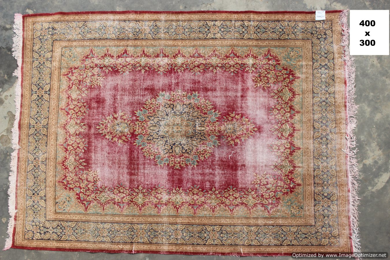 Vintage recoloured perzisch tapijt 40657 (400cm x 300cm)