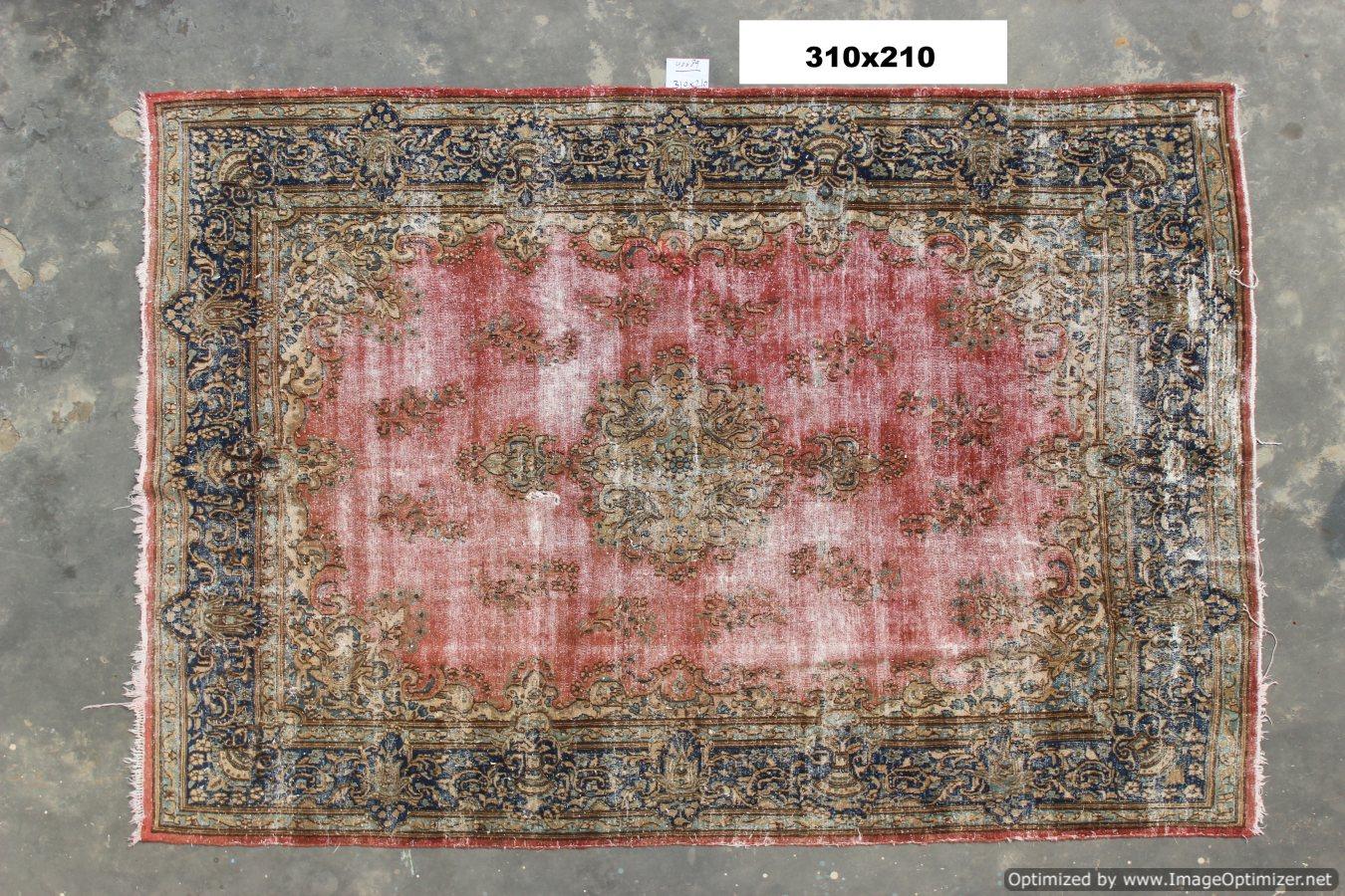 Vintage recoloured perzisch tapijt 40689  (310cm x 210cm)  VERKOCHT!!