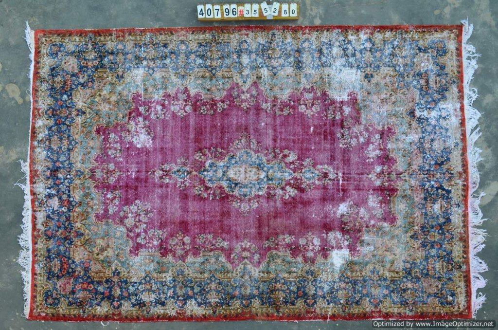 Vintage recoloured perzisch tapijt 40796 (355cm x 280cm)