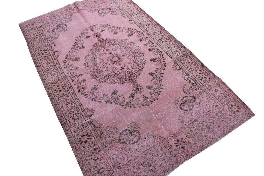 Vintage vloerkleed, oud roze, 290cm x 171cm