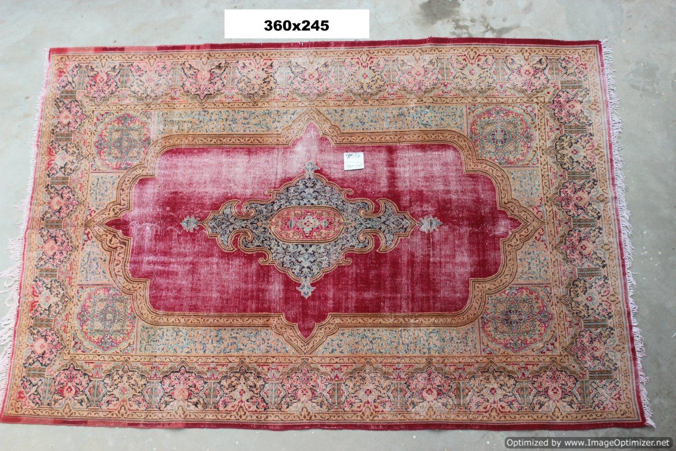 Vintage recoloured perzisch tapijt 41537 (360cm x 245cm)