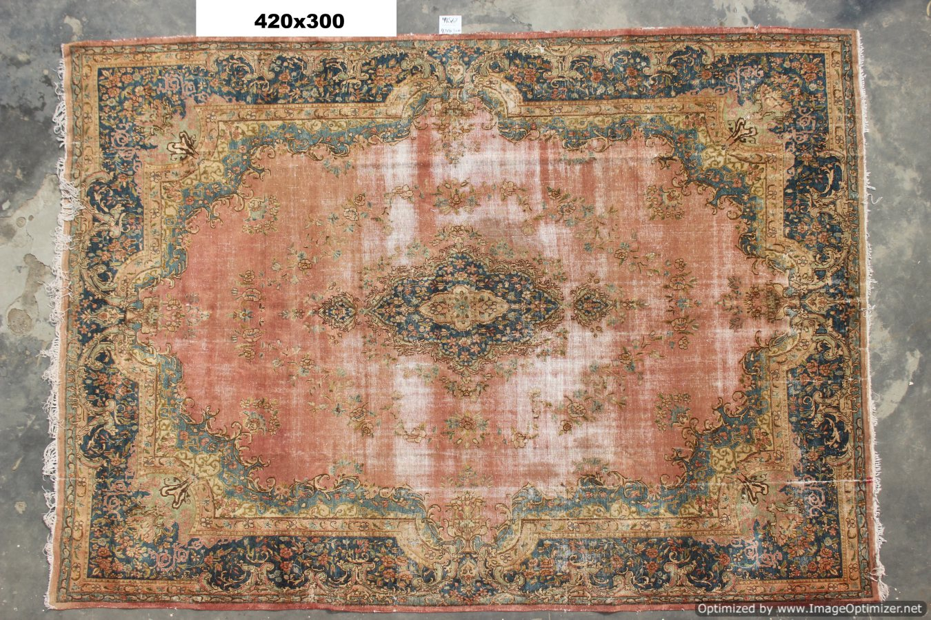 Vintage recoloured perzisch tapijt 41567 (420cm x 300cm)