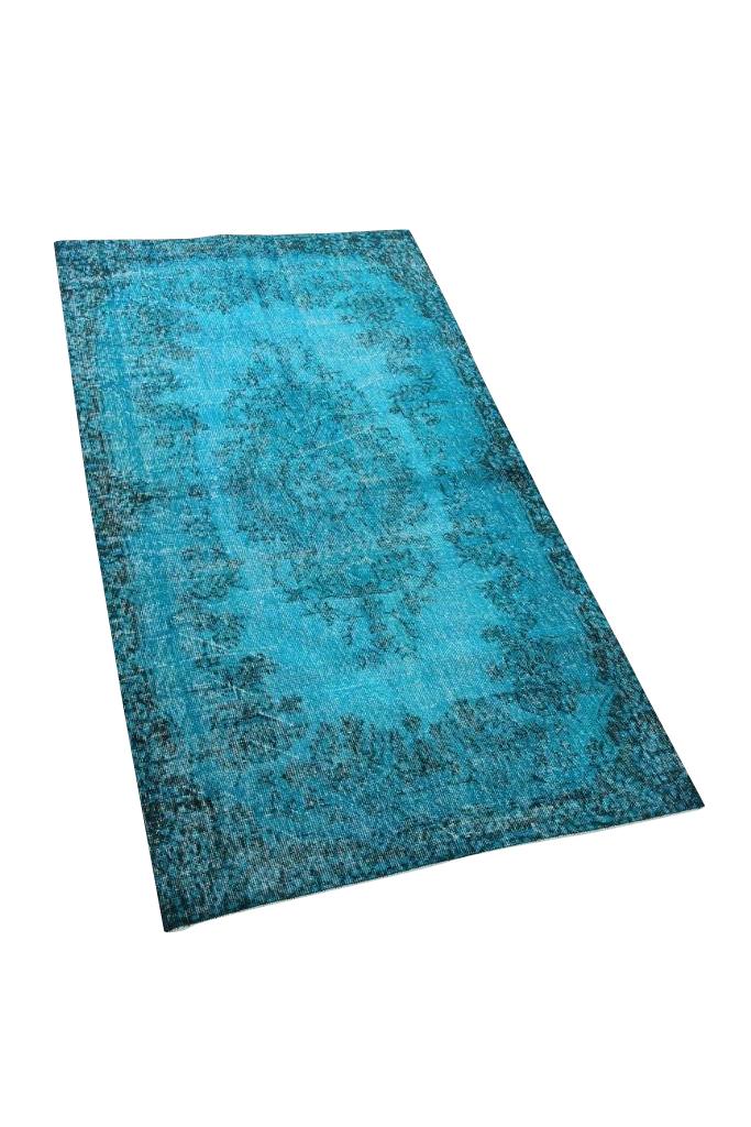 Blauw vintage vloerkleed nr 4173 (216cm x 115cm)