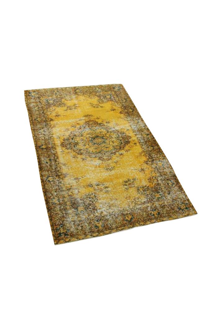 Geel vintage vloerkleed nr 4249 (191cm x 118cm)