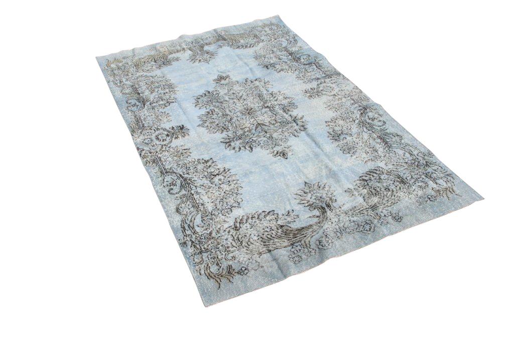 HABI Lichtblauw recoloured vloerkleed 432 (268ccm x 165cm)