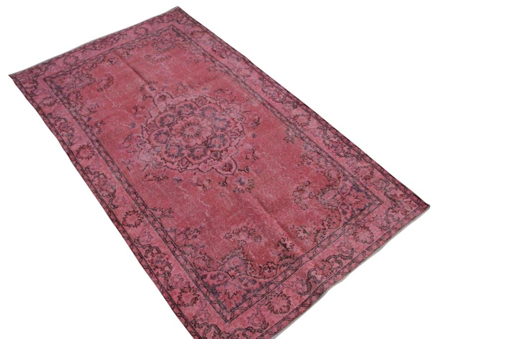 Roze vintage vloerkleed nr 4423 ( 238cm x 133cm)