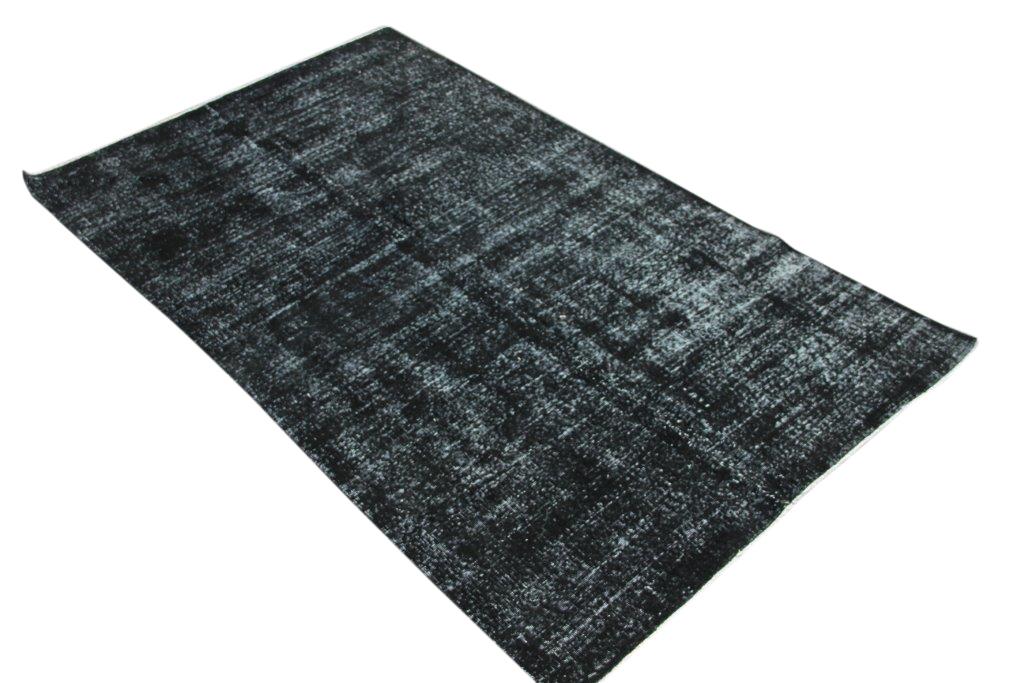 Zwart vintage vloerkleed  nr 4428 ( 267cm x 153cm)