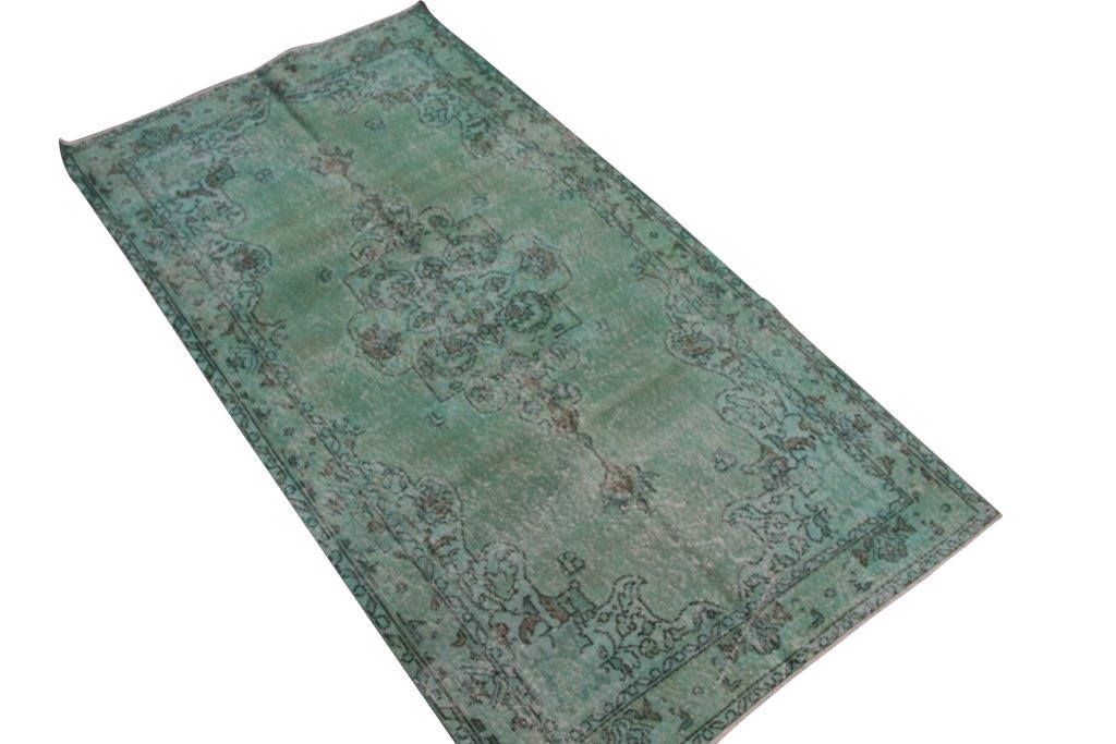 Misty green vintage vloerkleed  nr 4439( 215cm x 113cm) Uitgeleend aan Ariandne at Home voor fotoshoot