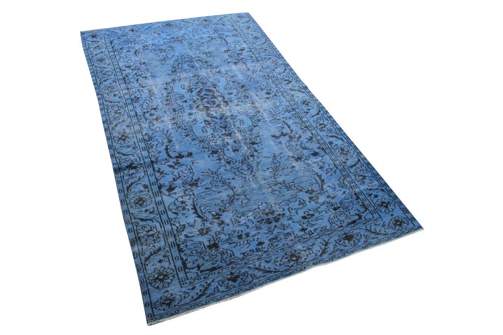 Blauw vintage vloerkleed nr 4460 (297cm x 167cm)