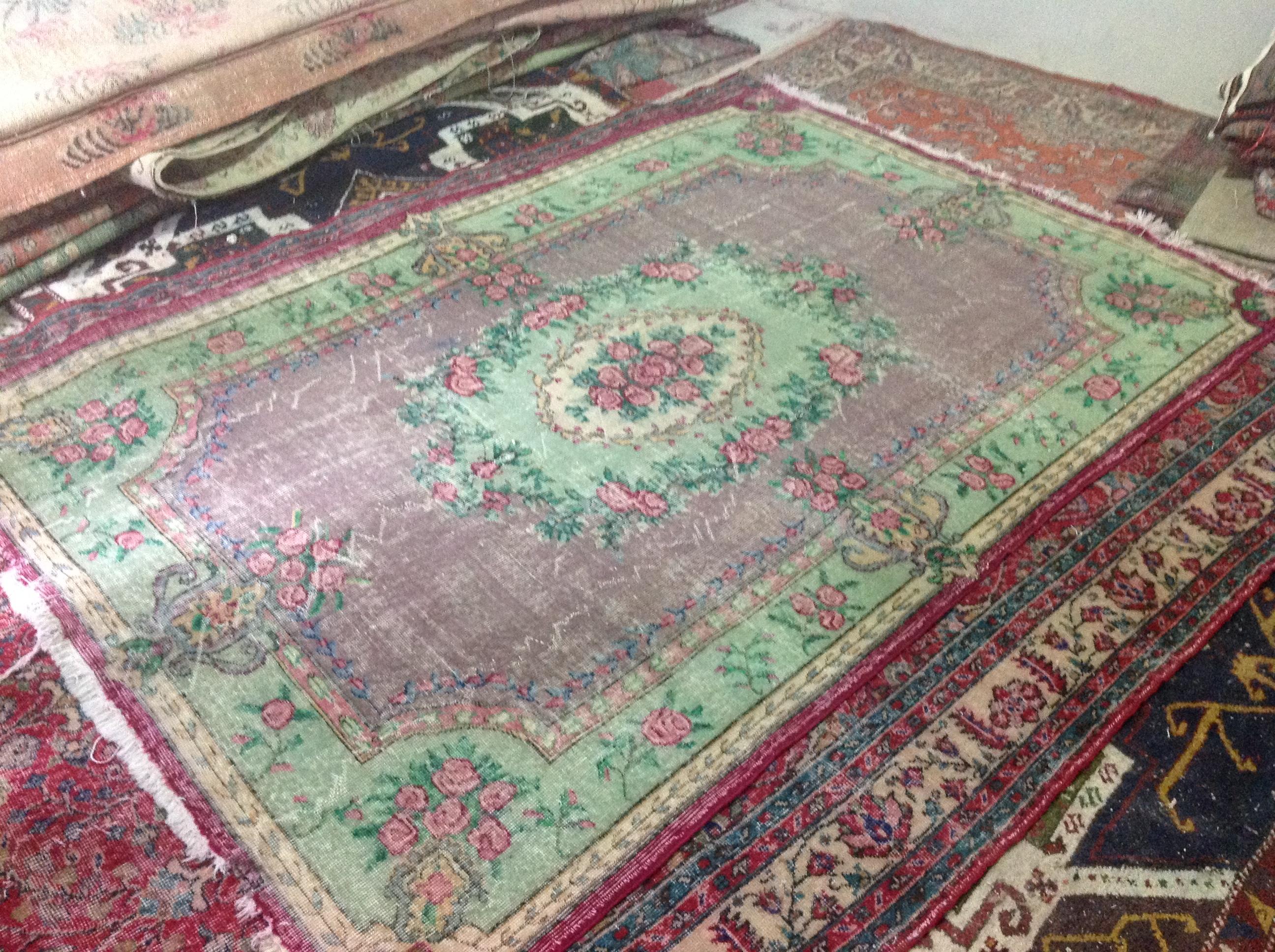 VERKOCHT  vintage vloerkleed  uit Turkije 250cm x 170cm, no 4541 VERKOCHT