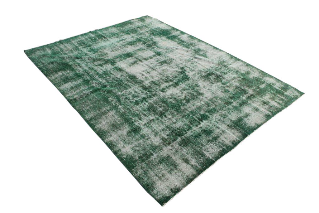 Groen recoloured vloerkleed 456  (320cm x 243cm)