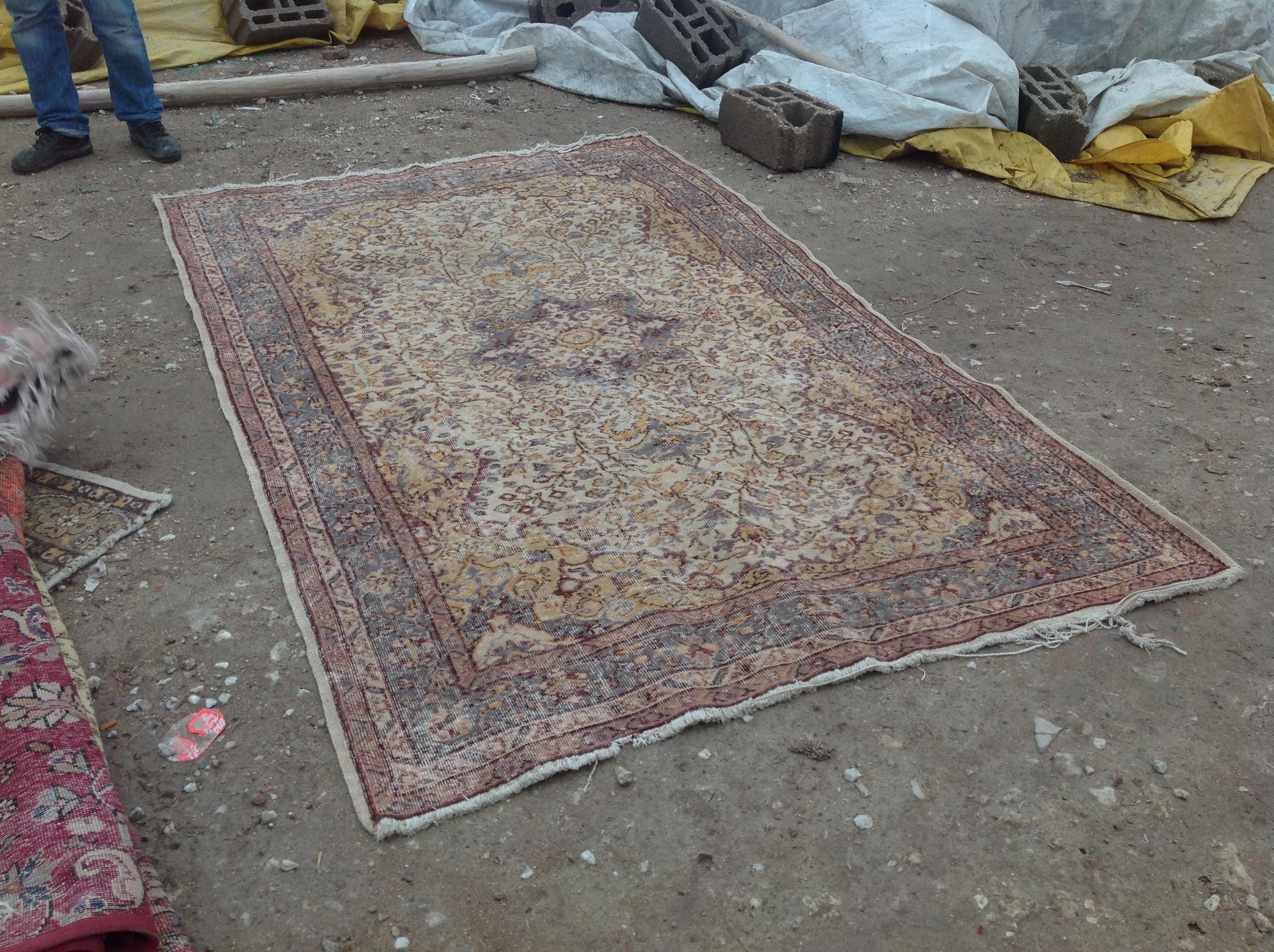 NIEUW INGEKOCHT vintage vloerkleed  uit Turkije 262cm x 172cm, no 4592 LEVERBAAR VANAF 15 DECEMBER