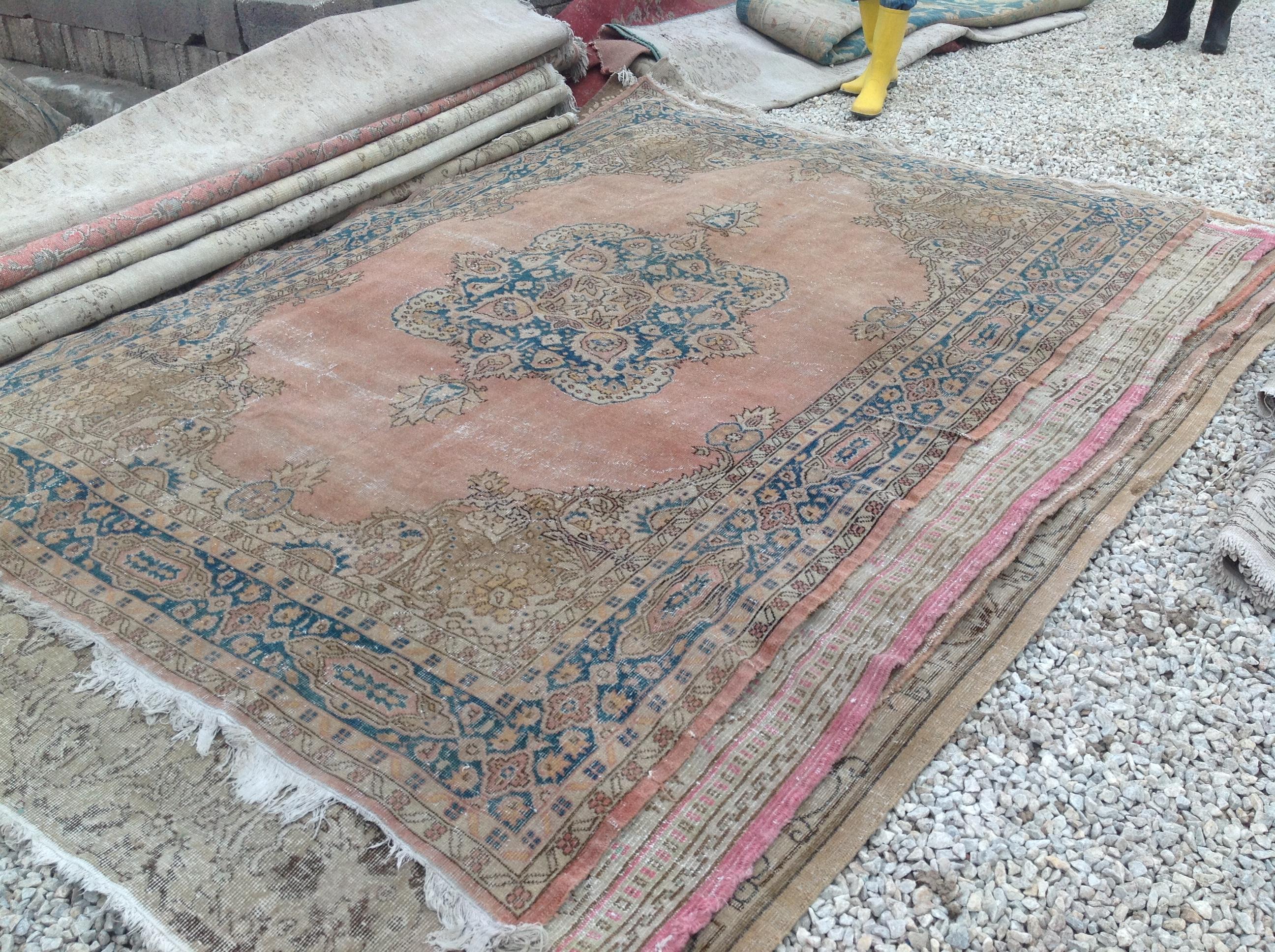 NIEUW INGEKOCHT vintage vloerkleed  uit Turkije 296cm x 204cm, no 4612 LEVERBAAR VANAF 15 DECEMBER