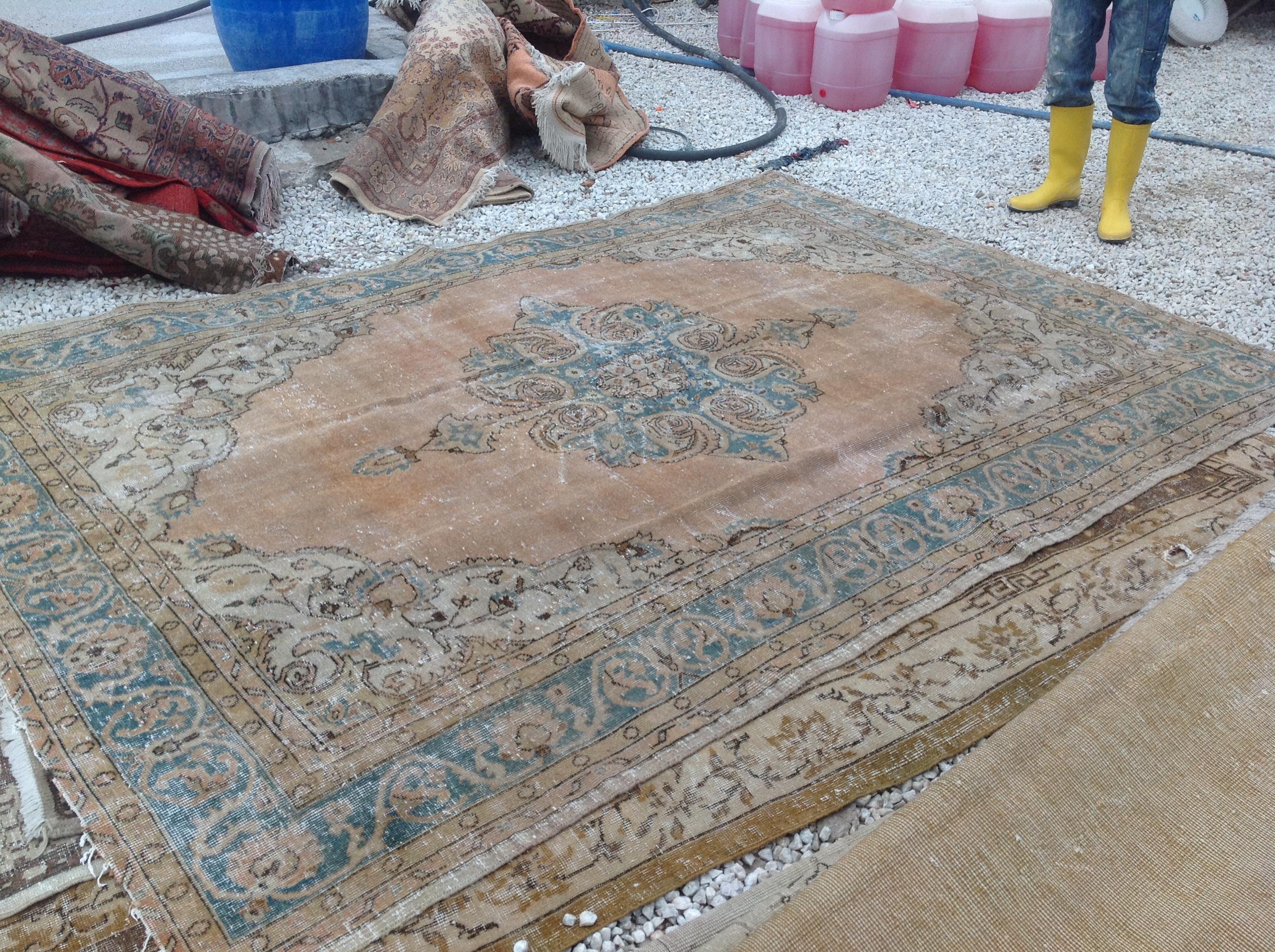 NIEUW INGEKOCHT vintage vloerkleed  uit Turkije 310cm x 211cm, no 4619  LEVERBAAR VANAF 15 DECEMBER