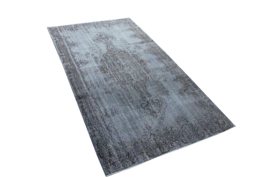Blauw grijsvintage vloerkleed nr 4637 (297cm x 171cm)