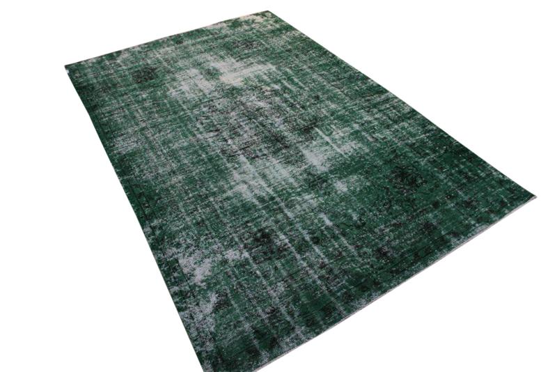 Groen recolored klassiek vloerkleed nr 465D (315 cm x 212 cm)