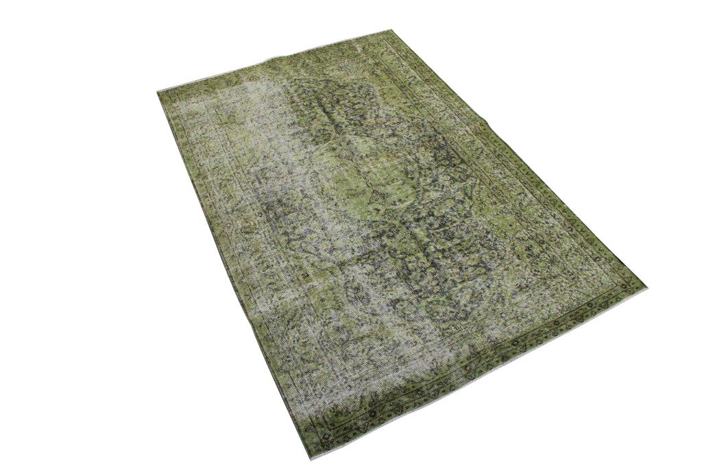 Groen vintage vloerkleed nr 467  (238cm x  160cm)
