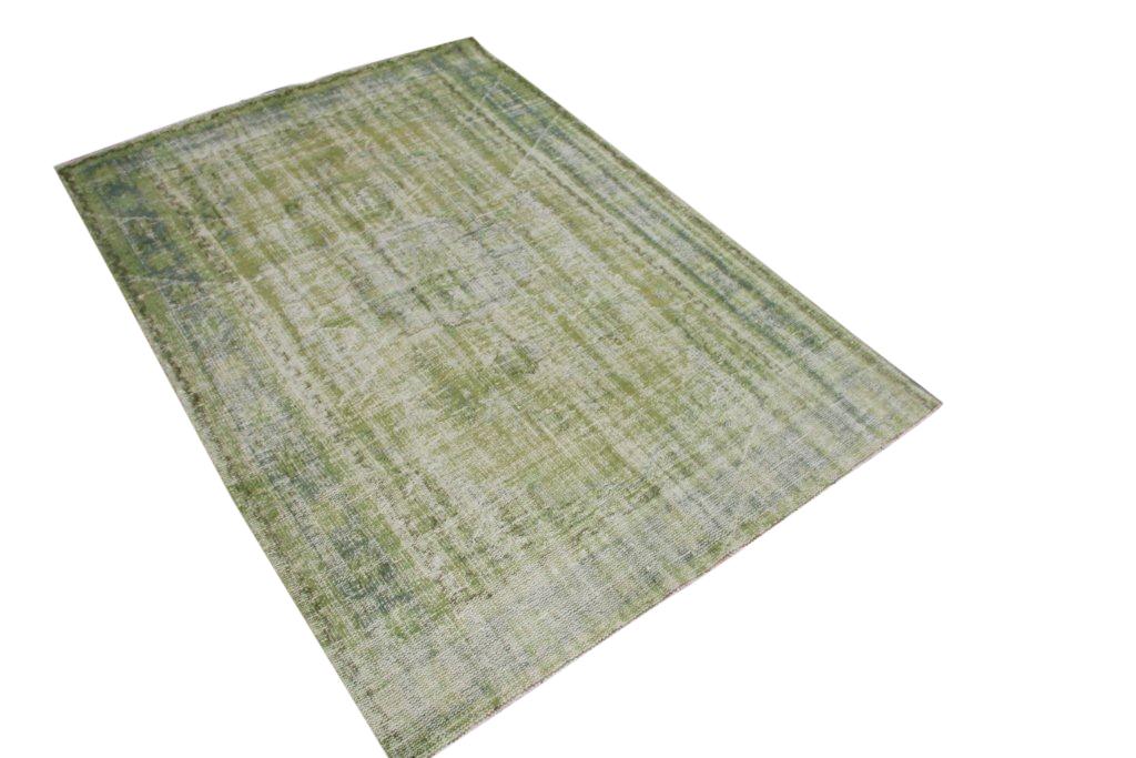 Groen recoloured vloerkleed   255cm x 175cm