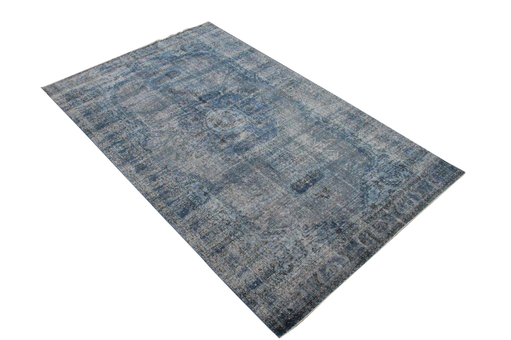 Blauw vintage vloerkleed nr 473  (300cm x  178cm)