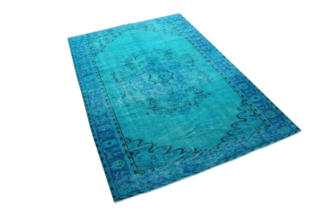 Blauw vintage vloerkleed nr 4756 (269cm x 179cm)