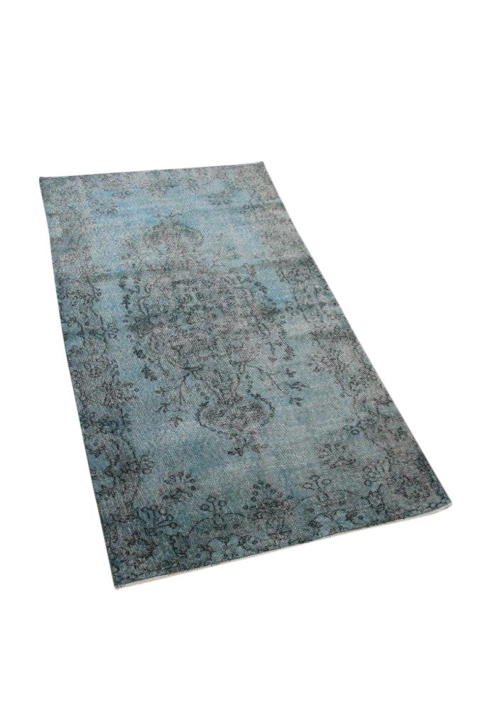 Blauw vintage vloerkleed nr 4780 (201cm x 110cm)