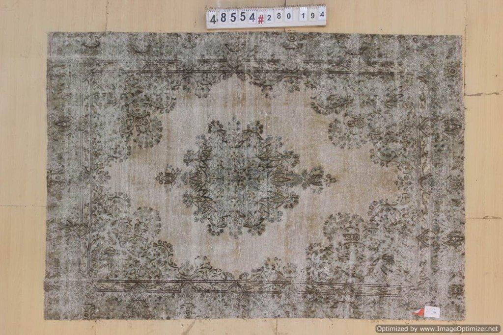 Naturel  30 tot 80 jaar oud vloerkleed (geschoren en gewassen) 280cm x 194cm, no 48554 Leverbaar vanaf 10 februari, nu bestelbaar