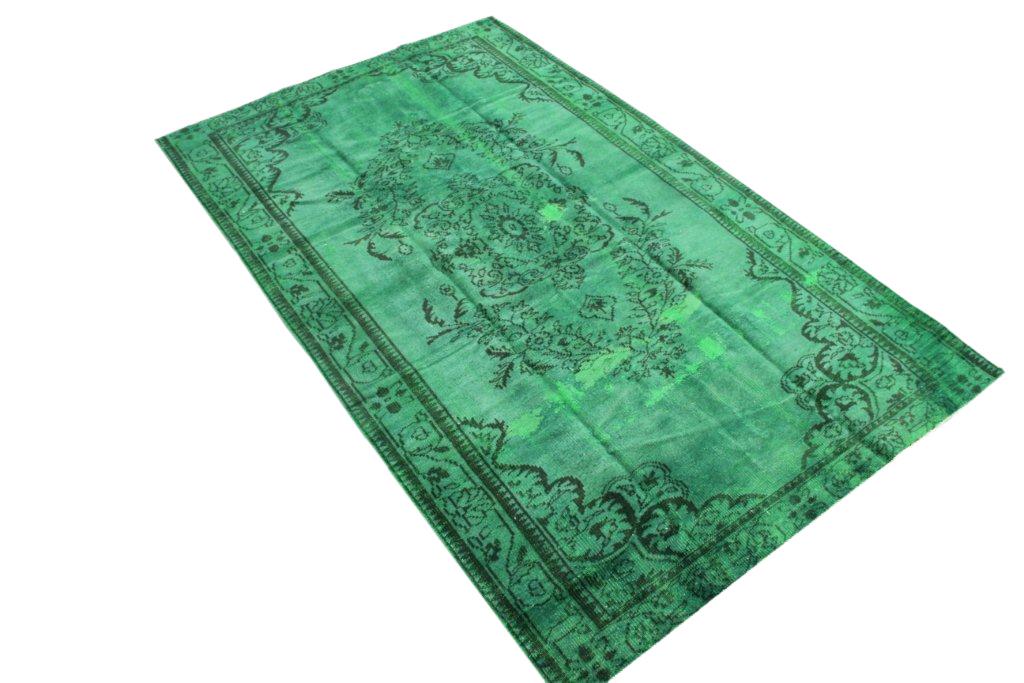 Groen recoloured vloerkleed 500  (277cm x 167cm) VERKOCHT!