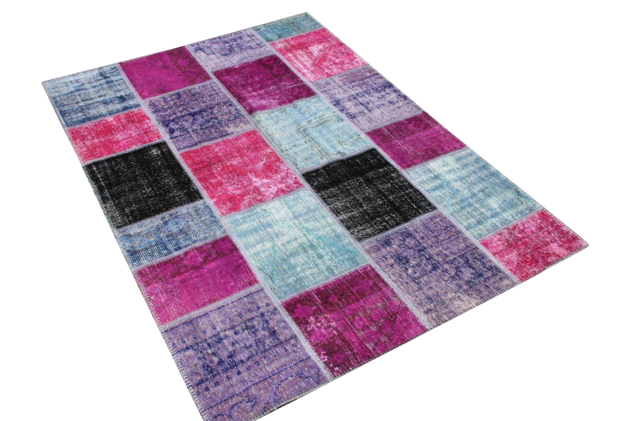 Paars vintage patchwork vloerkleed 5005D (243cm x 173cm)  VERKOCHT HAPPY PANDA