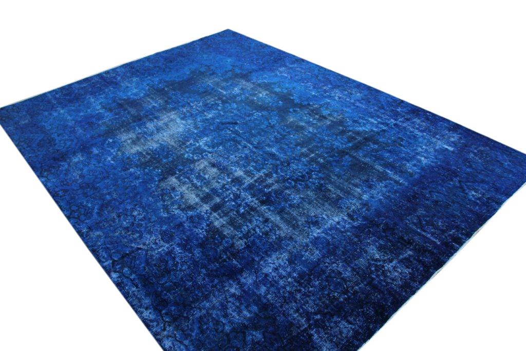 Blauw recoloured  vloerkleed nr 50055 (387cm x 286cm)