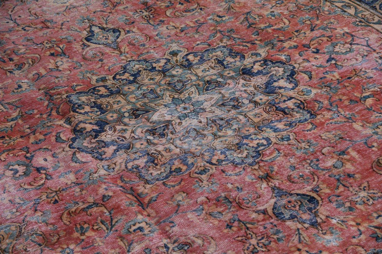 Vintage recoloured perzisch tapijt 50070 (309cm x 219cm)