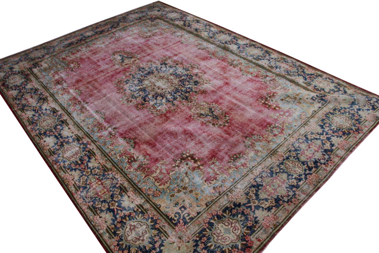 Vintage recoloured perzisch tapijt 50077 (397cm x 293cm)