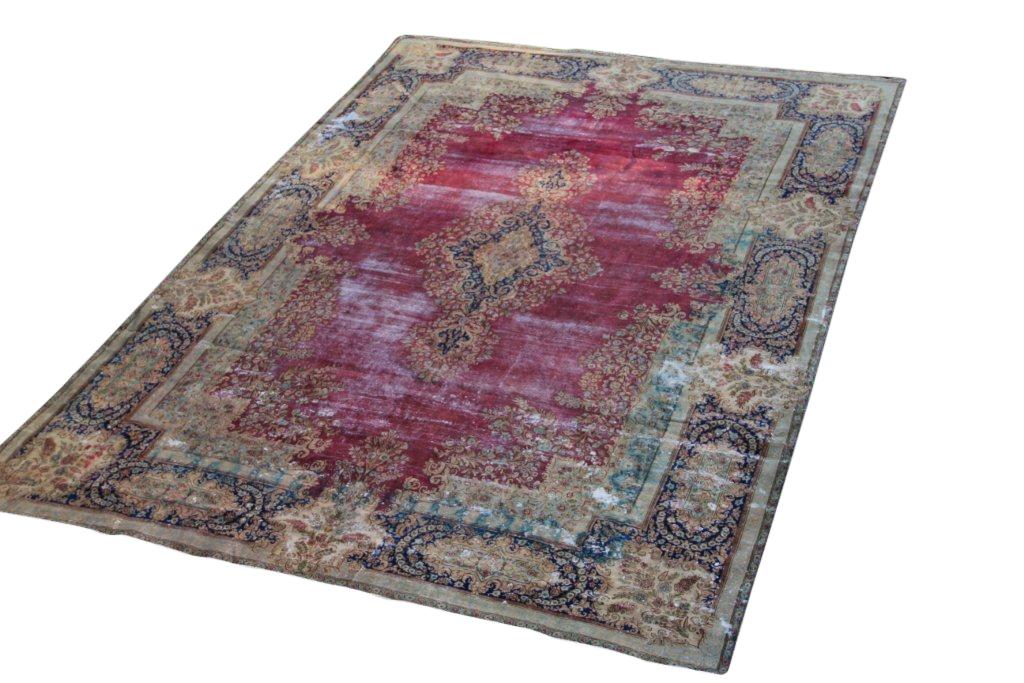 VERKOCHT! Zeer groot vintage recoloured perzisch tapijt 50078 (568cm x 393cm)