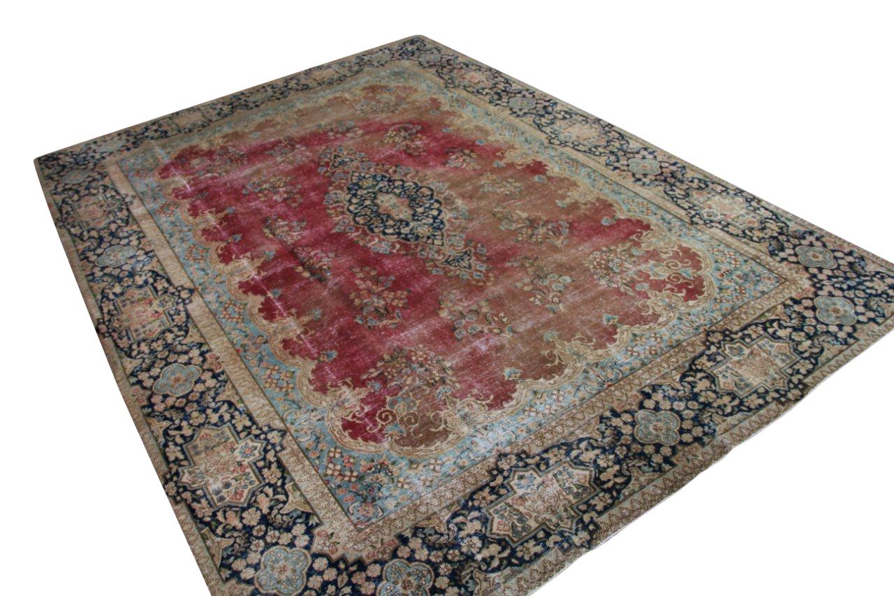 Vintage recoloured perzisch tapijt 50093 (400cm x 293cm)