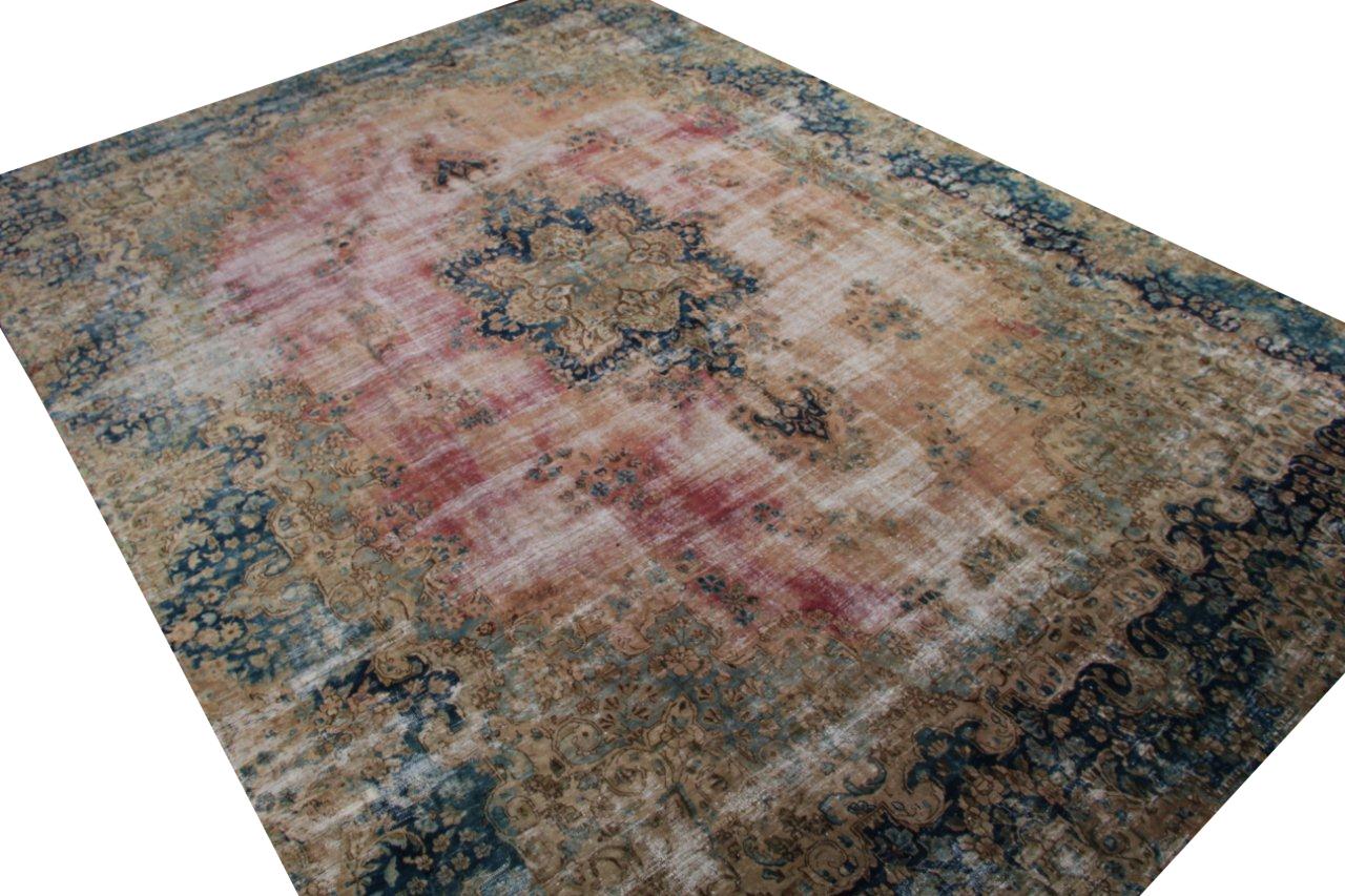 Vintage recoloured perzisch tapijt 50094 (450cm x 319cm)