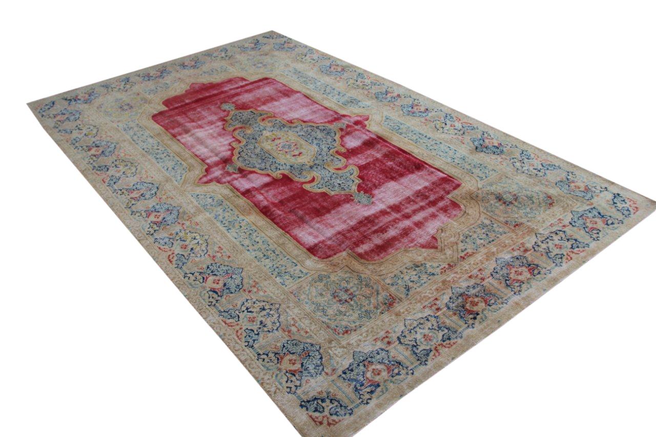 Vintage recoloured perzisch tapijt 50120 (375cm x 238cm)