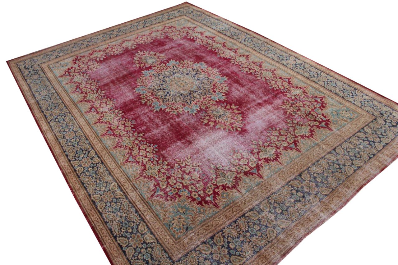 Vintage recoloured perzisch tapijt 50122 (401cm x 296cm)