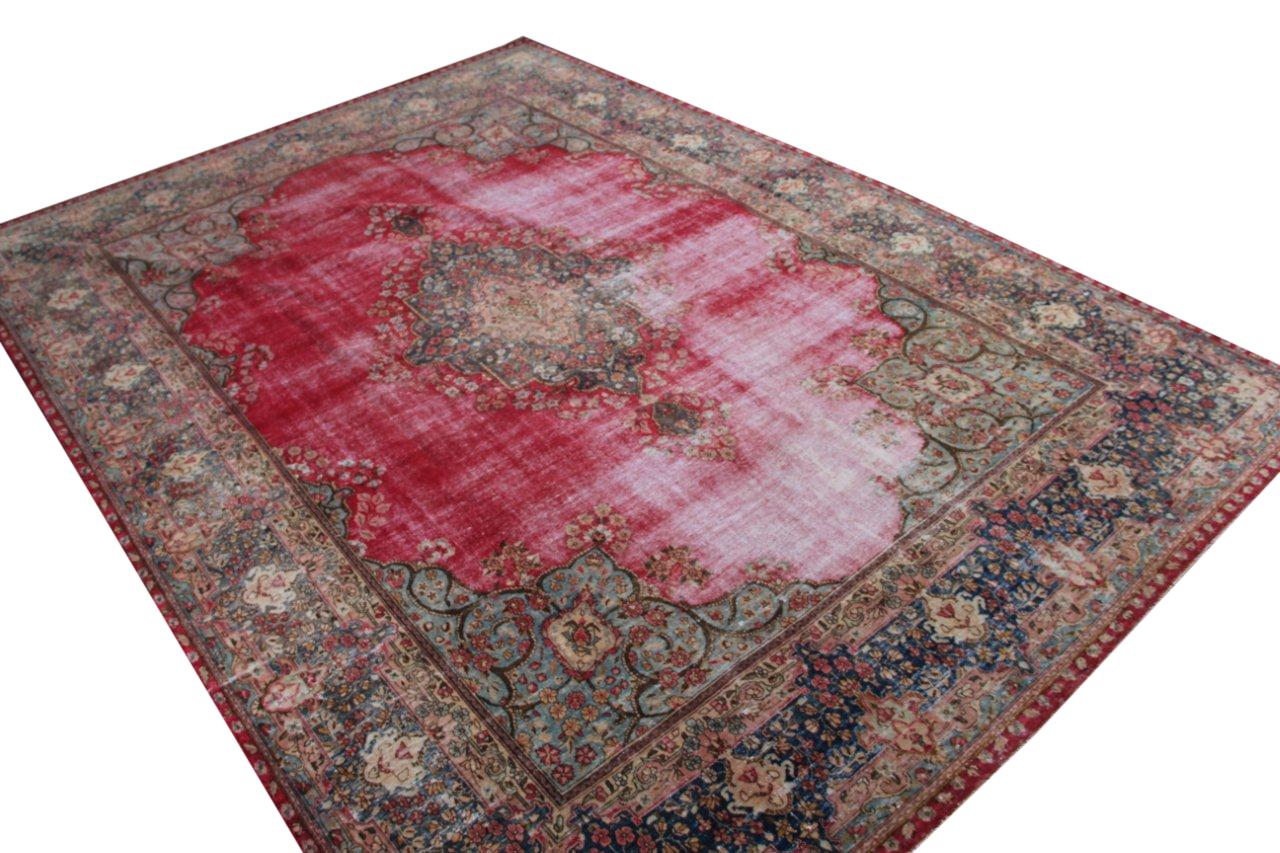 Vintage recoloured perzisch tapijt 50123 (420cm x 297cm)