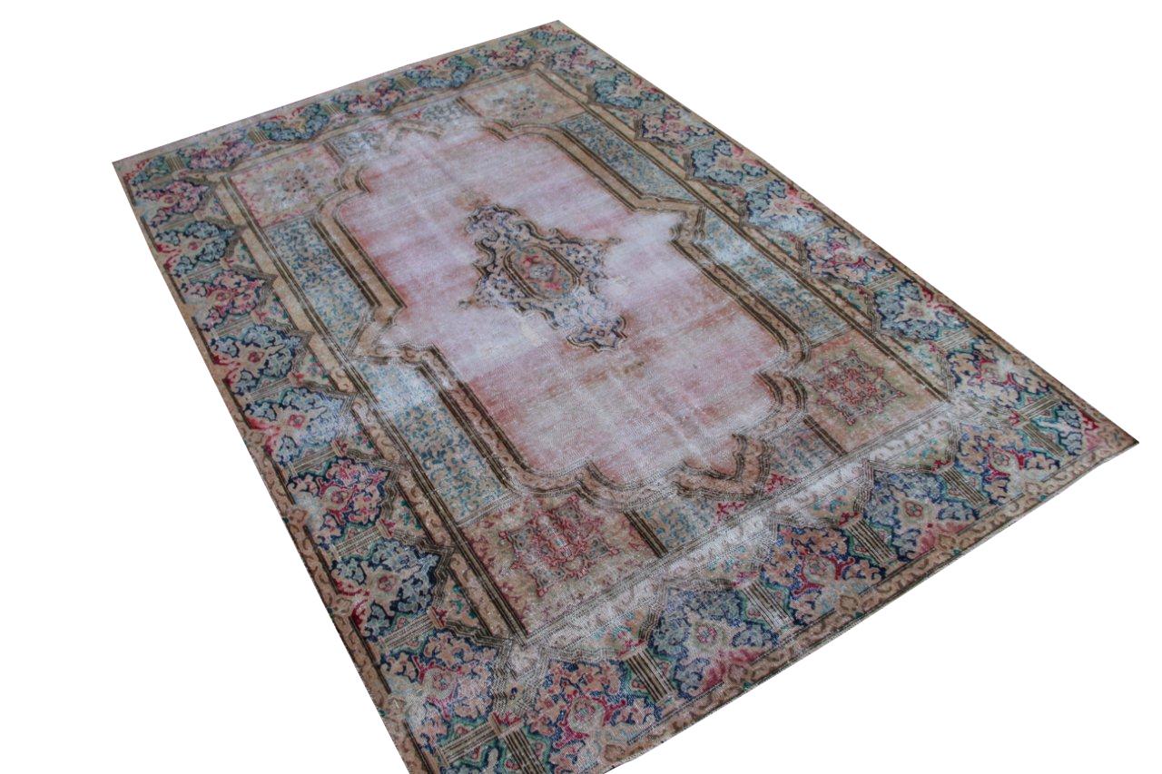 Vintage recoloured perzisch tapijt 50125 (295cm x 203cm)
