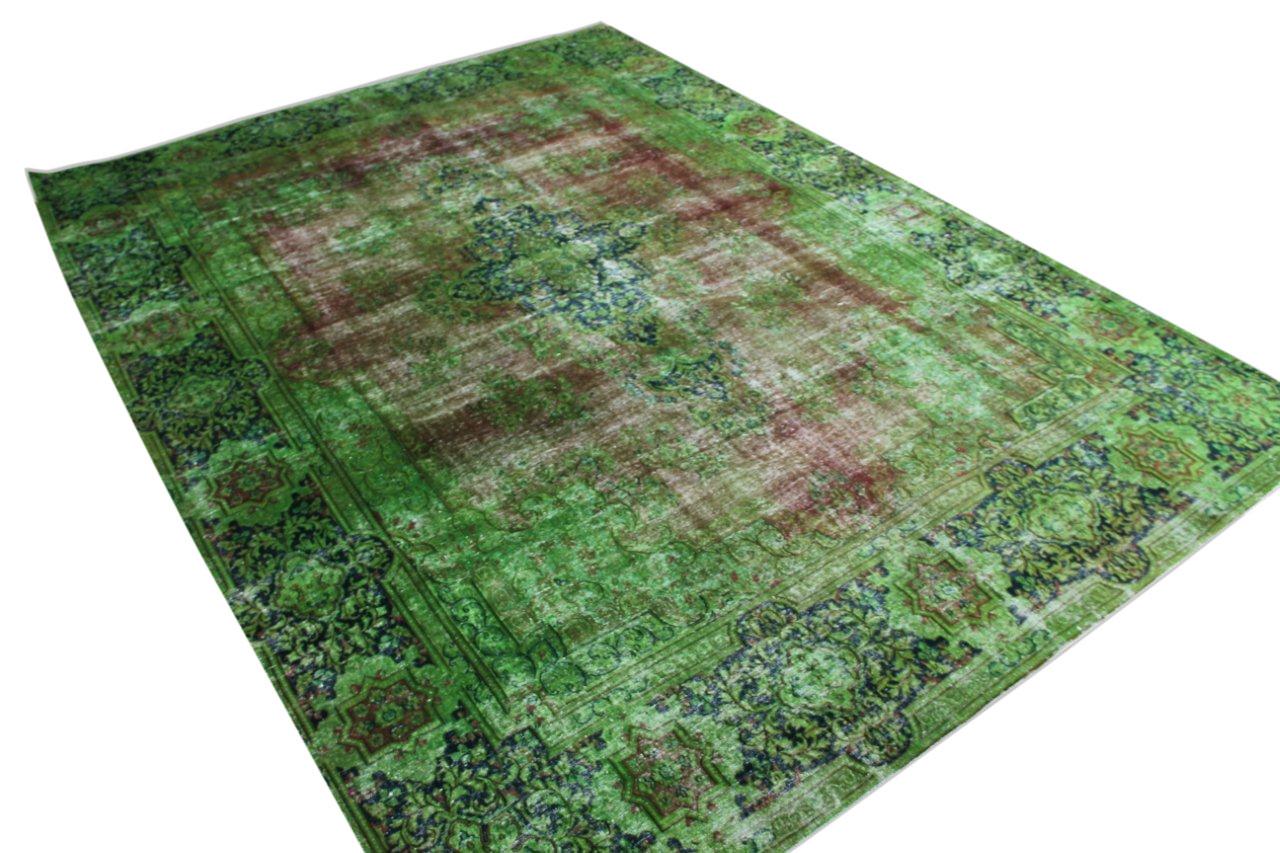 Vintage recoloured perzisch tapijt 50128 (394cm x 290cm)