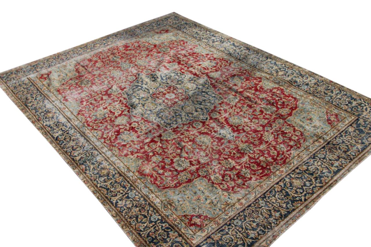 Vintage recoloured perzisch tapijt 50132 (364cm x 242cm)