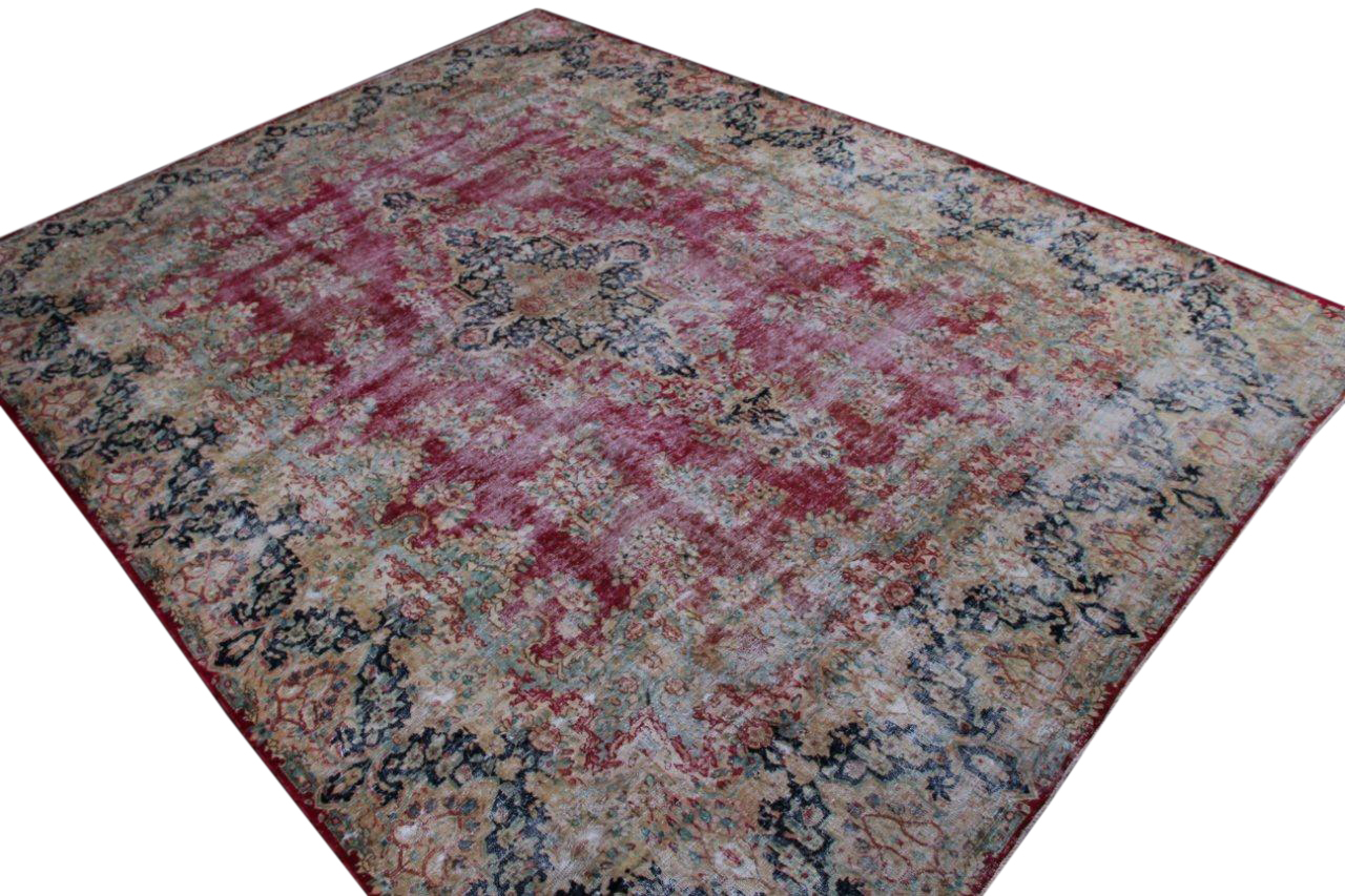 Vintage recoloured perzisch tapijt 50130 (397cm x 300cm)
