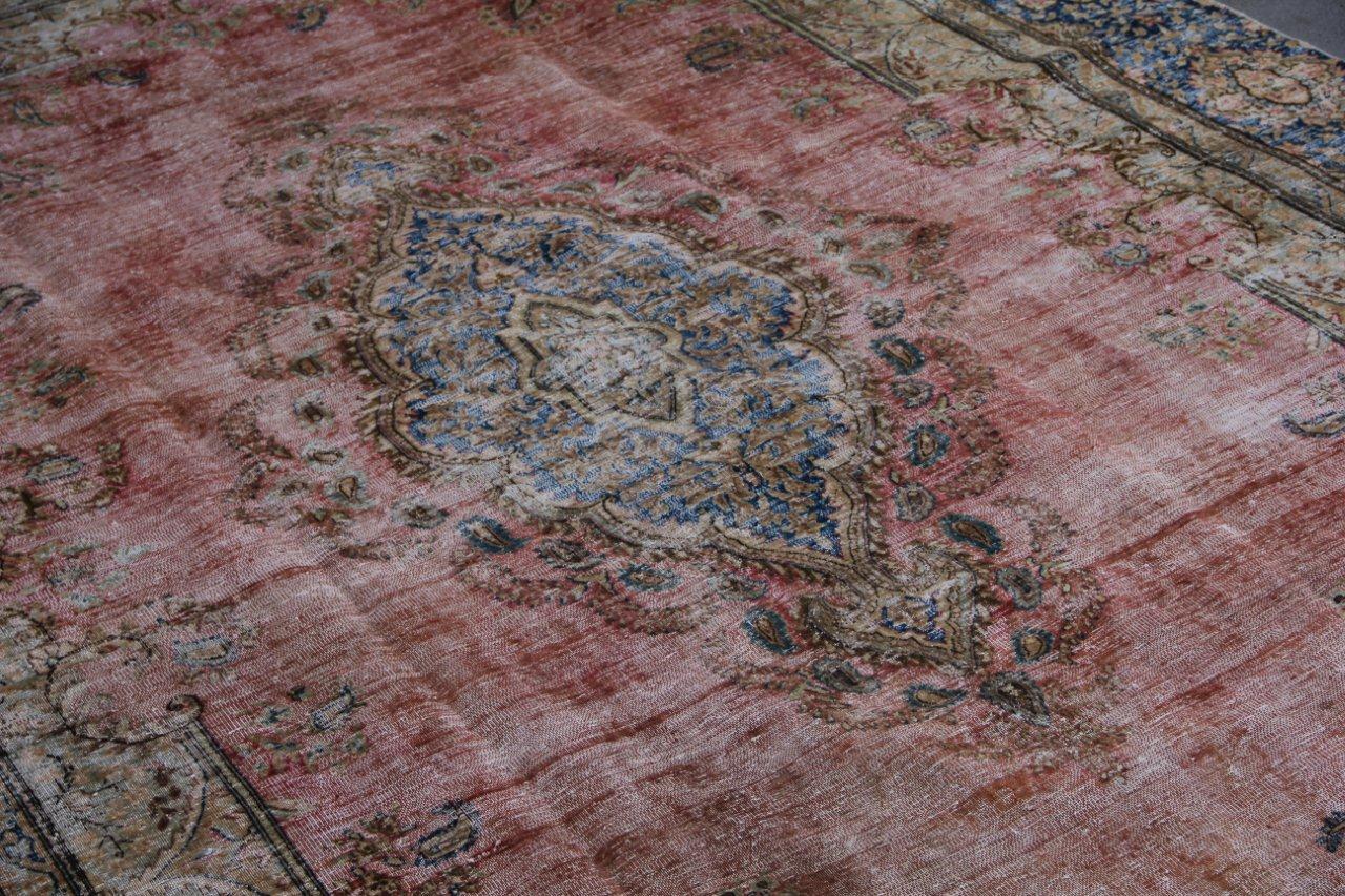 Vintage recoloured perzisch tapijt 50133 (397cm x 257cm)