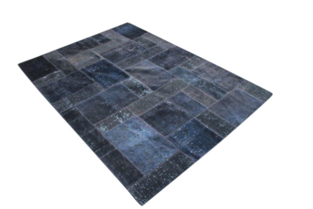 Patchwork vloerkleed donkerblauw, 299cm x 211cm nr51205