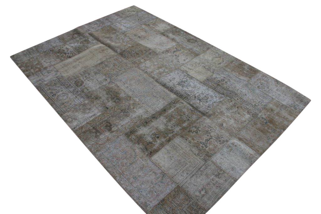 Patchwork vloerkleed, grijs taupe, 303cm x 204cm